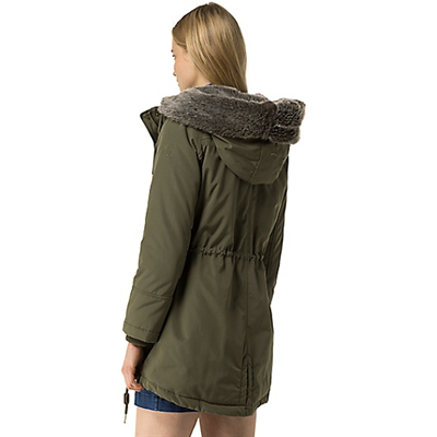 Tommy Hilfiger FUR-LINED CONVERTIBLE PARKA