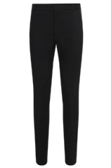 Hugo Boss 'Halyk' | Extra Slim Fit, Stretch Cotton Vegan Leather Trim Pants