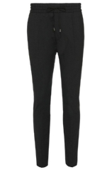 Hugo Boss 'Himesh' | Tapered Fit, Stretch Virgin Wool Blend Drawstring Trousers