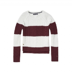 Tommy Hilfiger TH KIDS STRIPE CABLE SWEATER